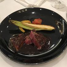 フォアグラと牛肉
