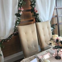 テーブル前装花