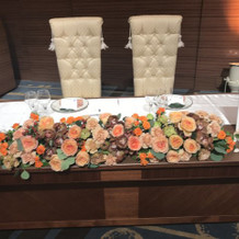 テーブル前装