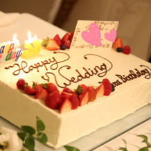 ウェディング&バースデーケーキ
