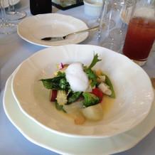 前菜の温サラダ。