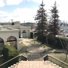 階段の上から見る景色