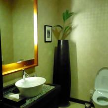 トイレもリゾート感