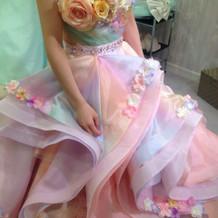 お色直しのドレスはとても好評