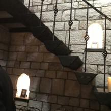 チャペル内階段