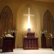 静かな教会です