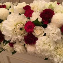 式場装花は和洋折衷をイメージしました。
