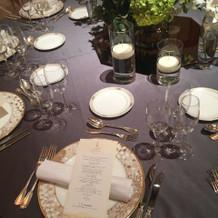 テーブルコーディネートはこんな感じです