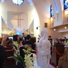 教会で白無垢です。