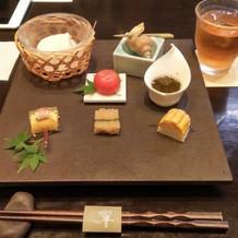 お豆腐と前菜
