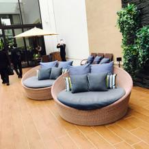 ガーデンのソファー