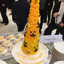 ハロウィンのイミテーションケーキ