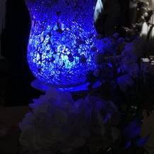 ゲストテーブル用光の演出1