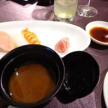 お寿司&赤だし