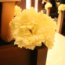 チャペルの再度の装花