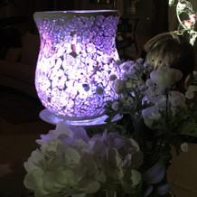 ゲストテーブル用光の演出2