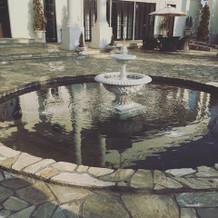 噴水がかわいい