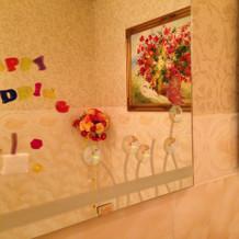 お化粧室の鏡☆