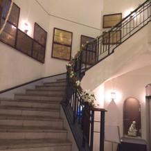 ホテルモントレ銀座内の螺旋階段