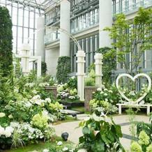 挙式を行った植物館です。