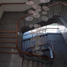 階段の装飾、フォトスポットのひとつ