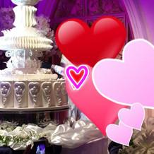 高さのあるイミテーションケーキ