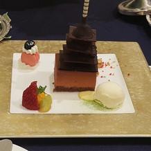 浅草寺のケーキ