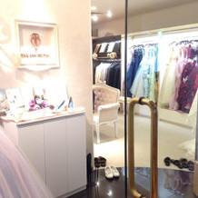 ホテル内にある衣装室