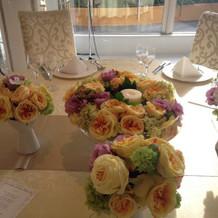 華やかな装花