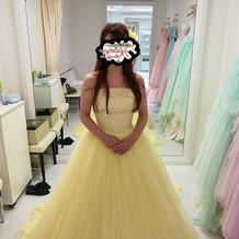 美女と野獣っぽい黄色いドレス