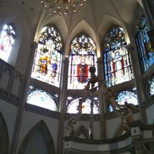 大聖堂。ステンドグラスです。