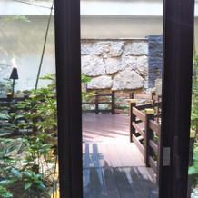 中庭です。外に出て写真を撮れます。