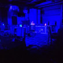 披露宴会場でのライトを使った演出。