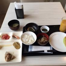 宿泊時の朝ご飯