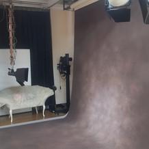写真スタジオ内