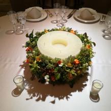 披露宴会場テーブル装飾2