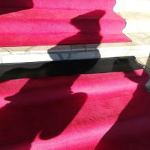 外階段の絨毯