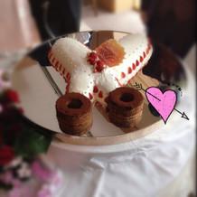 美容師なのでハサミ型のケーキ