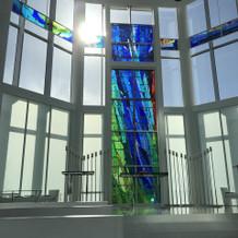 ステンドガラスが綺麗