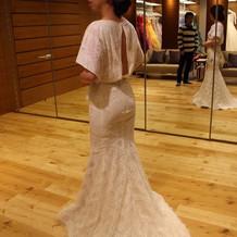 二次会用のドレスはマーメイドにしました