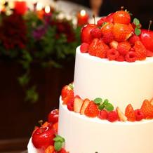 会場の雰囲気に合わせたケーキ。