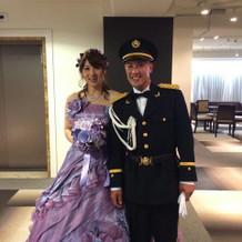 嫁のウェディングドレス綺麗です。