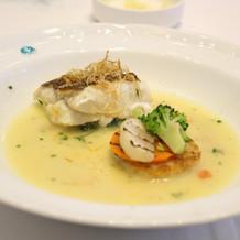 魚料理です。