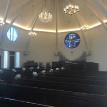 北野教会ステンドグラスが可愛らしいです。