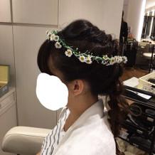 洋装の花冠(持ち込み)