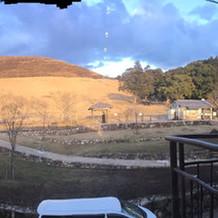 披露宴会場からの若草山