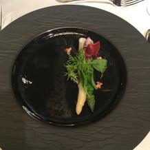 アスパラガスの野菜料理