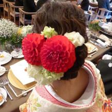 生花髪飾り