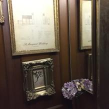 エレベーター内も可愛い装飾