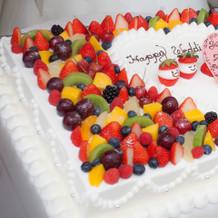 ケーキも可愛くしてもらえました